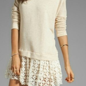 Free people beach oversized lace sweater